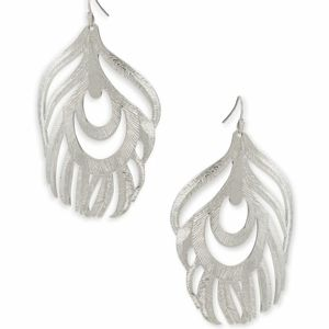 Kendra Scott Karina Silver Statement earrings